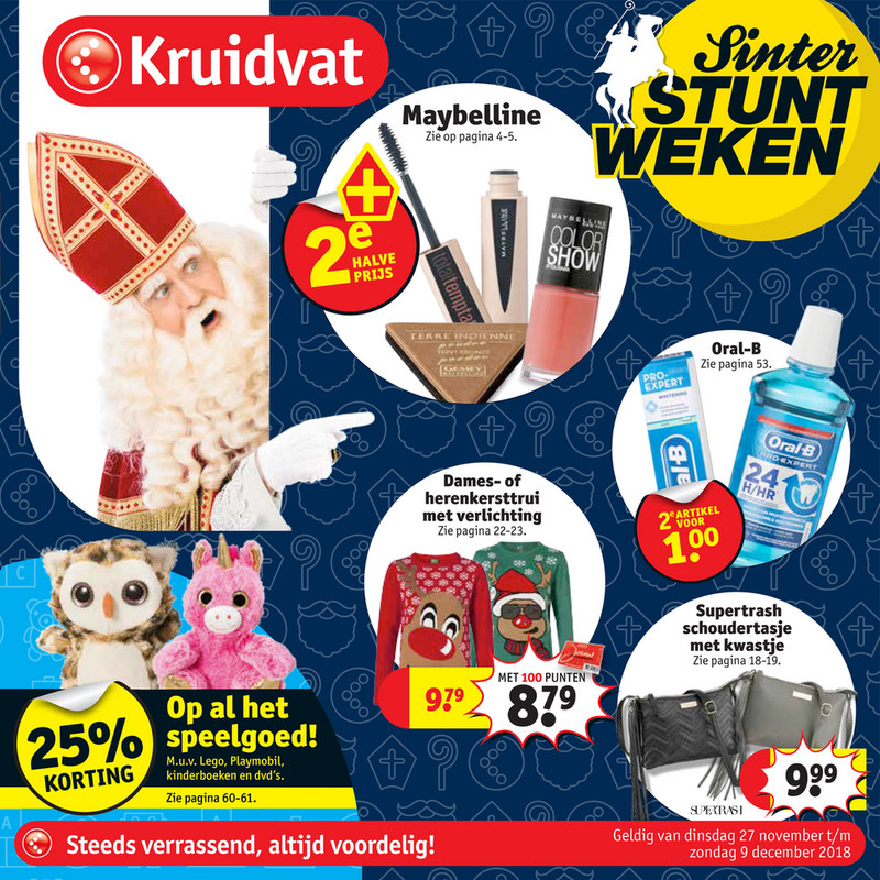 Kruidvat folder van 27/11/2018 tot 09/12/2018 - Weekpromoties 48