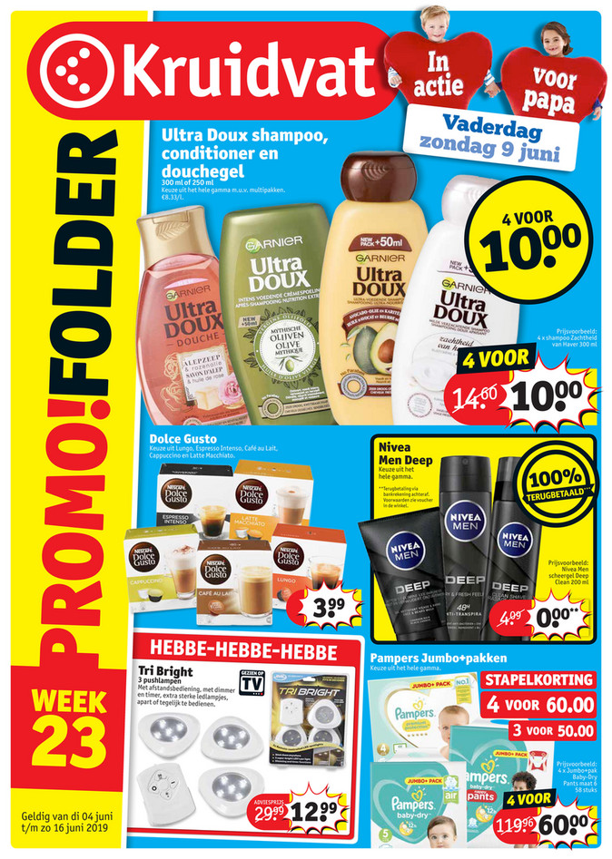Kruidvat folder van 04/06/2019 tot 16/06/2019 - Weekpromoties 23
