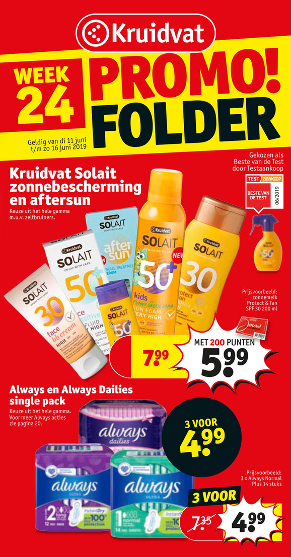 Kruidvat folder van 11/06/2019 tot 16/06/2019 - Weekpromoties 24