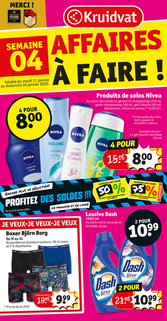 Folder Kruidvat du 21/01/2020 au 28/01/2020 - Promotions de la semaine 04