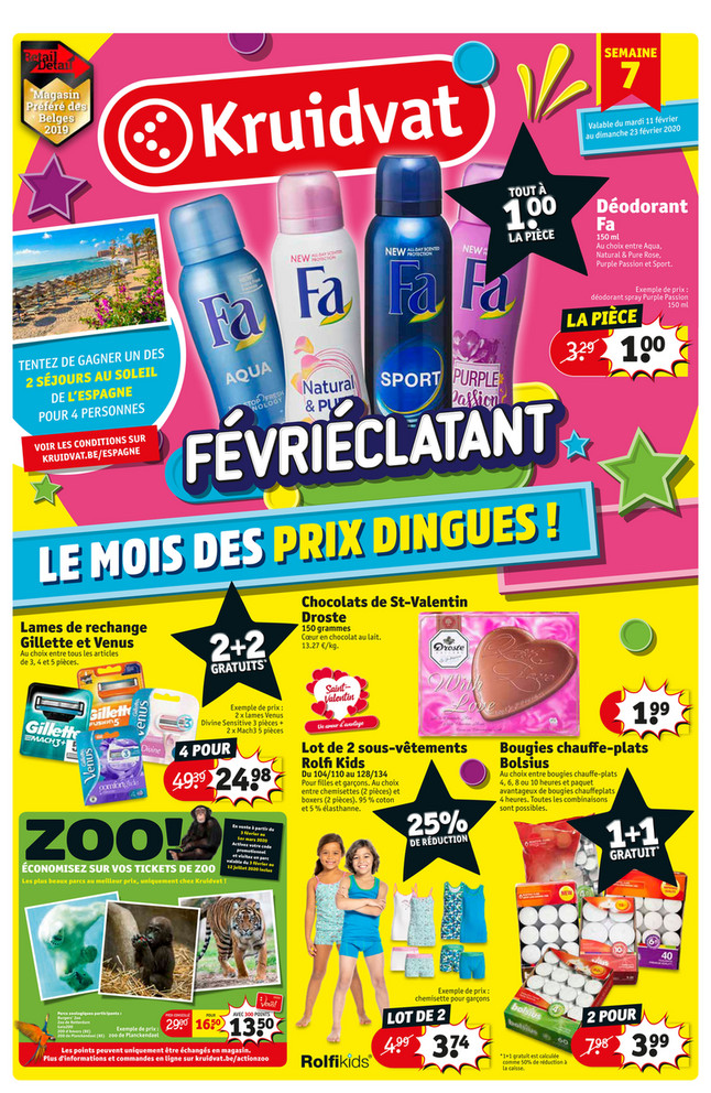 Folder Kruidvat du 11/02/2020 au 23/02/2020 - Promotions de la semaine 07