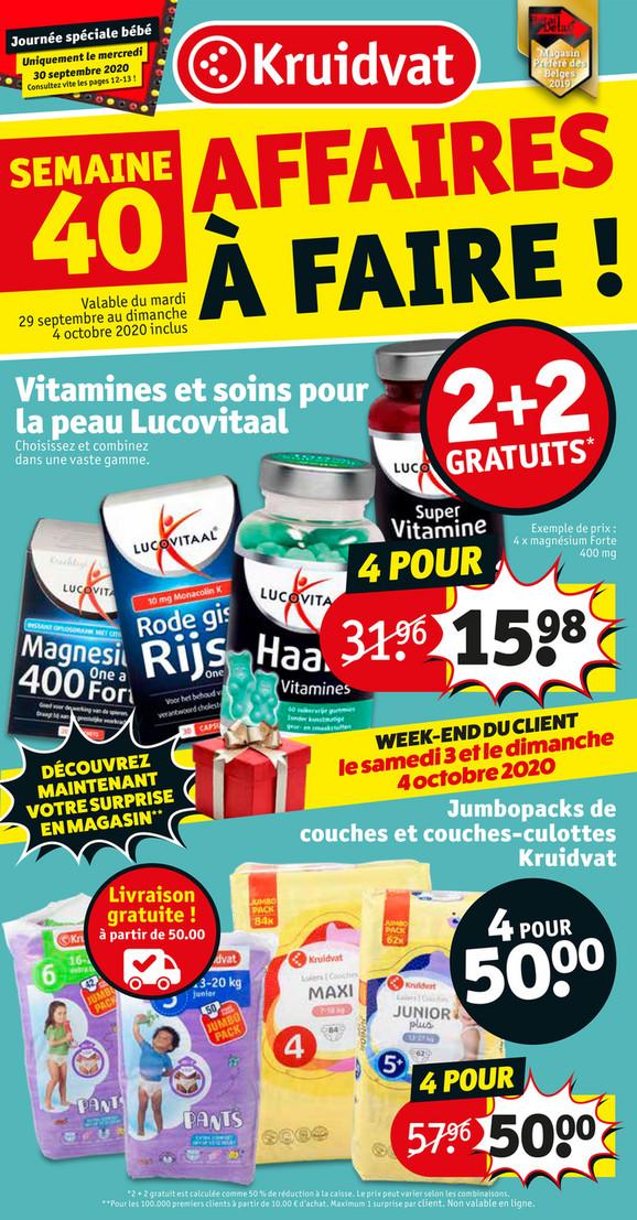 Folder Kruidvat du 29/09/2020 au 04/10/2020 - Promotion de la semaine 40