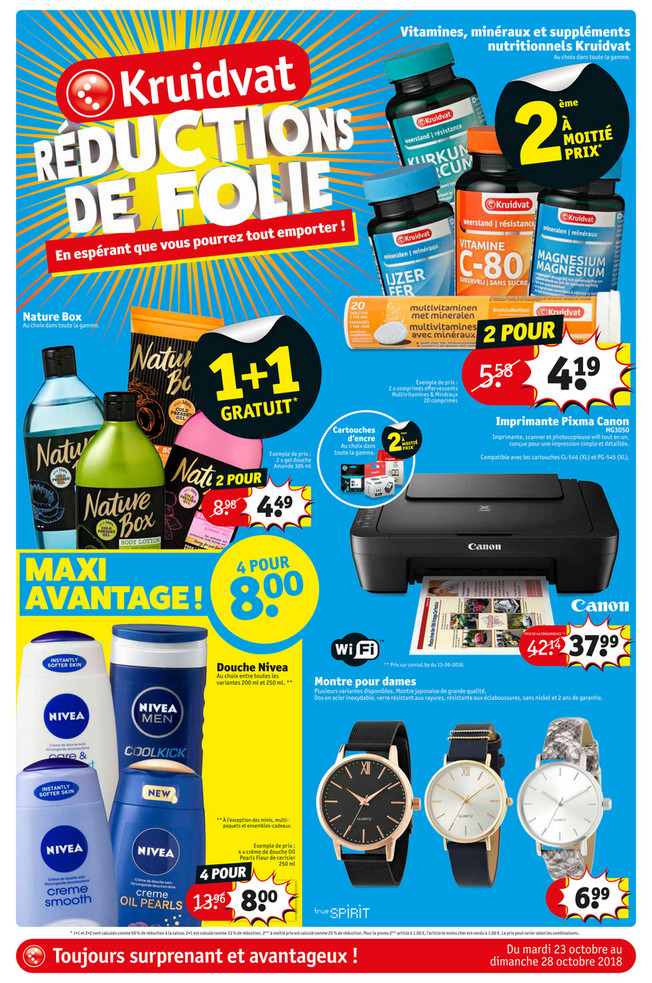 Folder Kruidvat du 23/10/2018 au 28/10/2018 - Promotions de la semaine 43