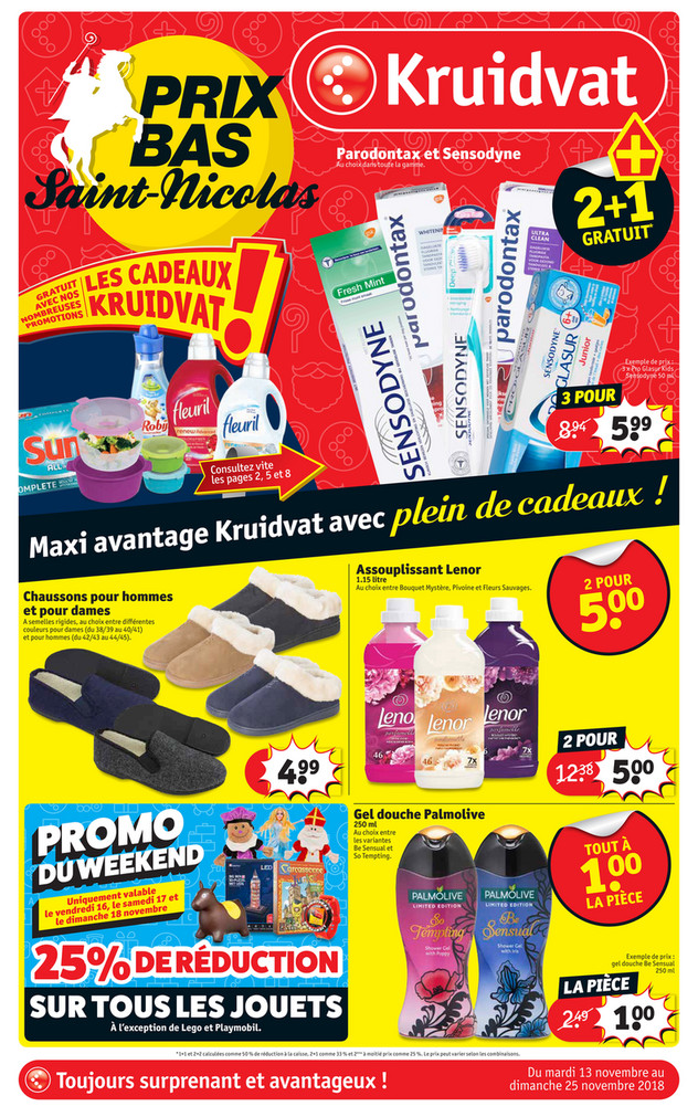 Folder Kruidvat du 13/11/2018 au 25/11/2018 - Promotions de la semaine 46