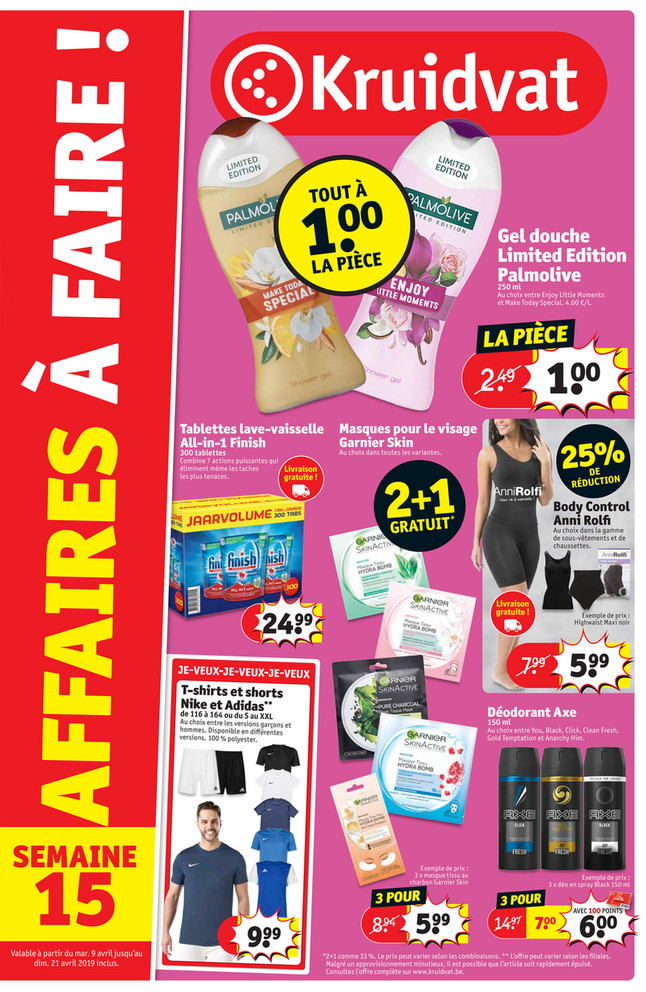 Folder Kruidvat du 09/04/2019 au 21/04/2019 - Promotions de la semaine 15