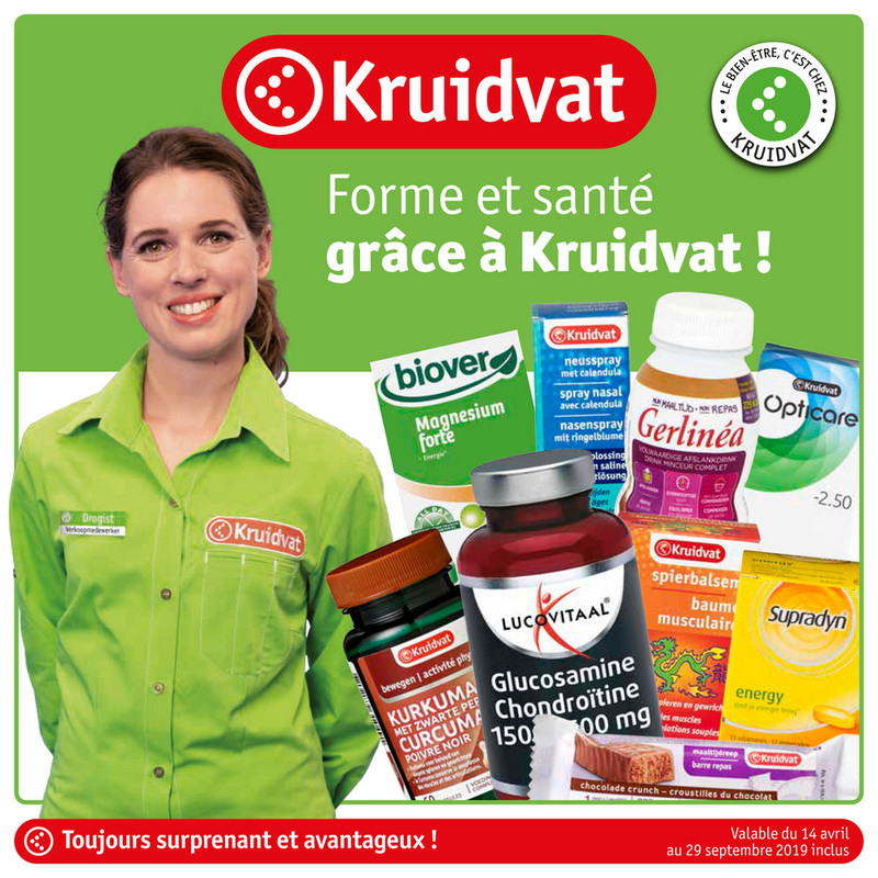 Folder Kruidvat du 24/04/2019 au 29/09/2019 - Health