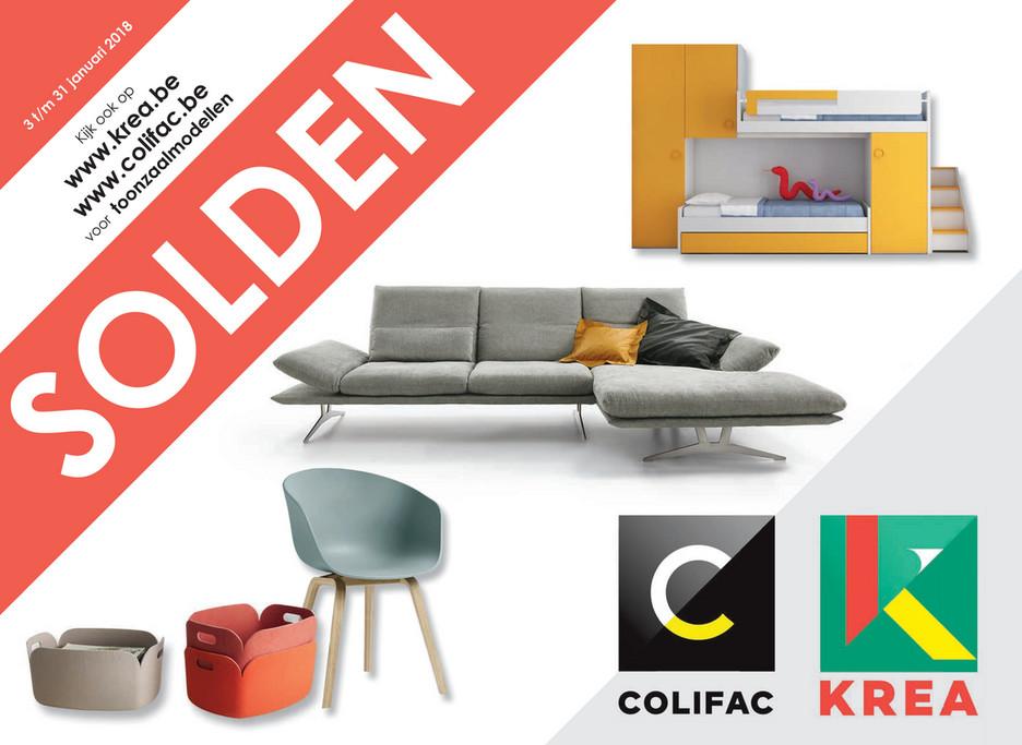 Krea - Colifac - Woonark folder van 03/01/2018 tot 31/01/2018 - Soldenfolder januari 2018 NL