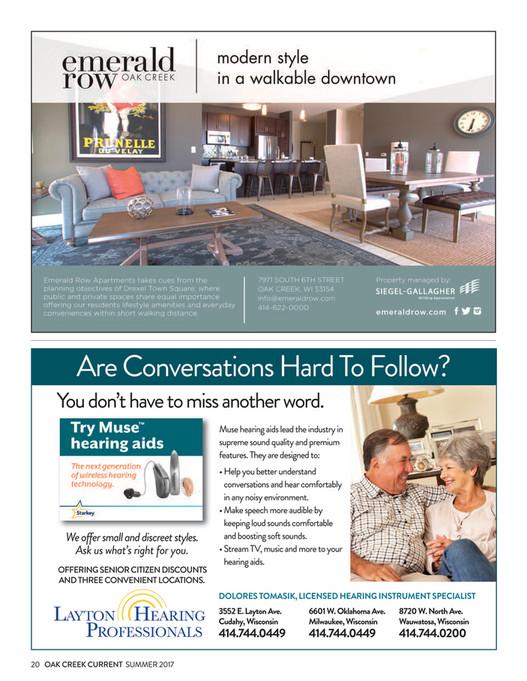City of Oak Creek - Summer 2017 OC Current magazine - Page 22-23