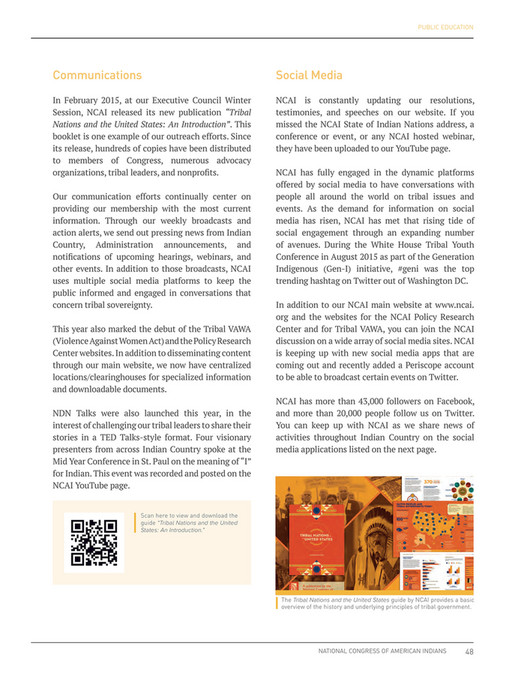 NCAI - NCAI 2015 Annual Report - Page 50-51 - Created with