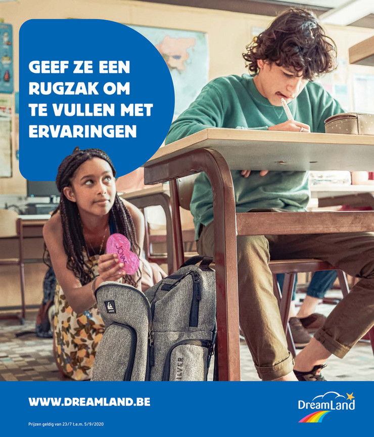 DreamLand folder van 03/08/2020 tot 05/09/2020 - Folder back to school NL