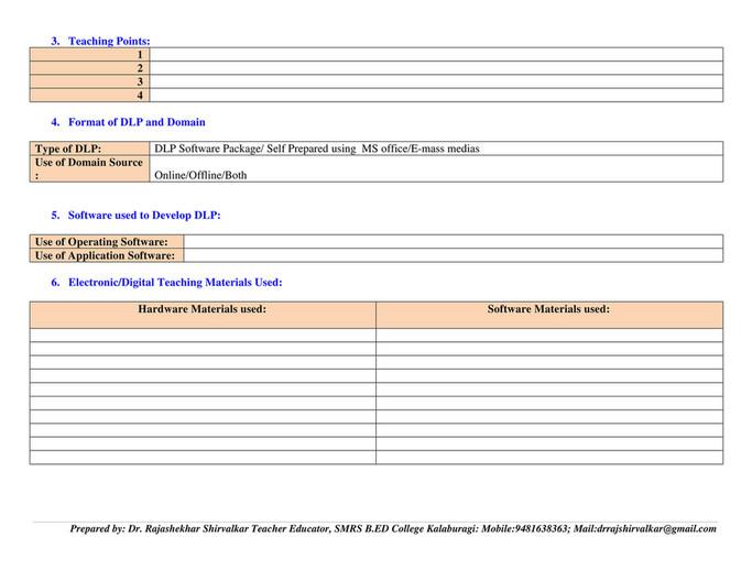 My publications format of digital lesson plan dlp 1 page 2 3 format of dlp and domain saigontimesfo