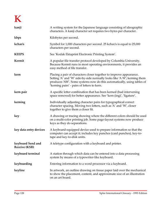 Xplor International - Glossary of Terms - Page 128-129