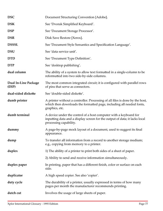 Xplor International - Glossary of Terms - Page 78-79