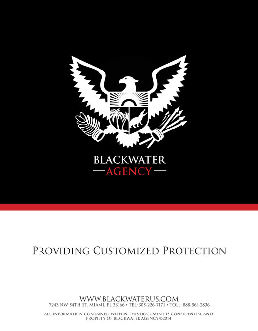 My Publications Blackwater Agency Proposal Page 1 Created With