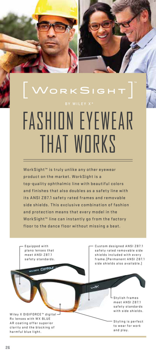 c8664991fb WorkSight™ is truly unlike any other eyewear product on the market.  WorkSight is a WX CONTOUR ...