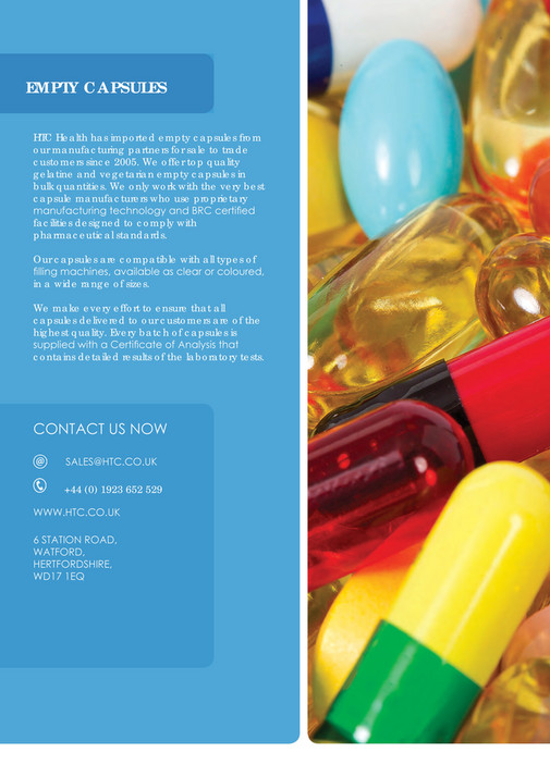 HTC Health - Empty capsules brochure 2017 - Page 4-5