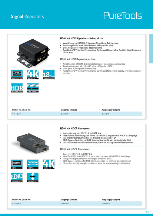 OneAV - OneAV 2018 Brochure - Page 142-143 - Created with