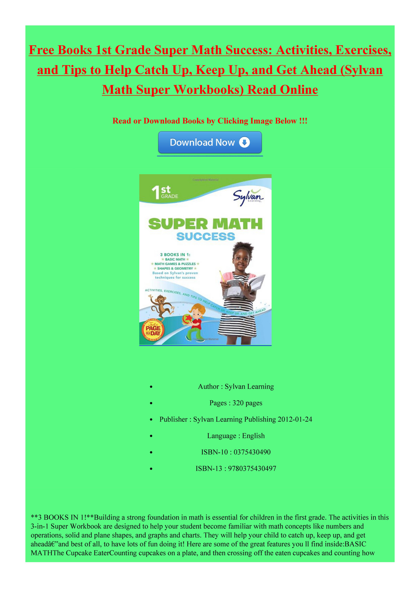 My Publications 1st Grade Super Math Success Page 1 Created