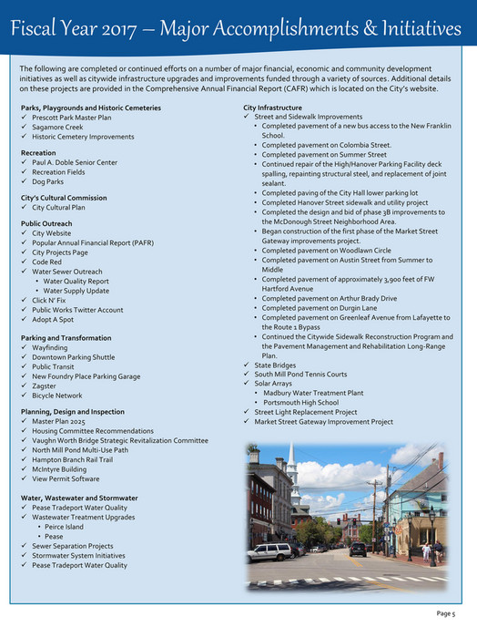 City of Portsmouth - Portsmouth, NH - Popular Annual Financial