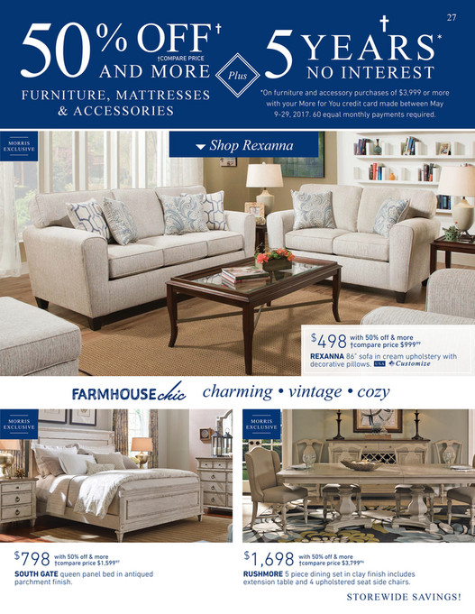 Morris Furniture Company Memorial Day Sale Page 26 27