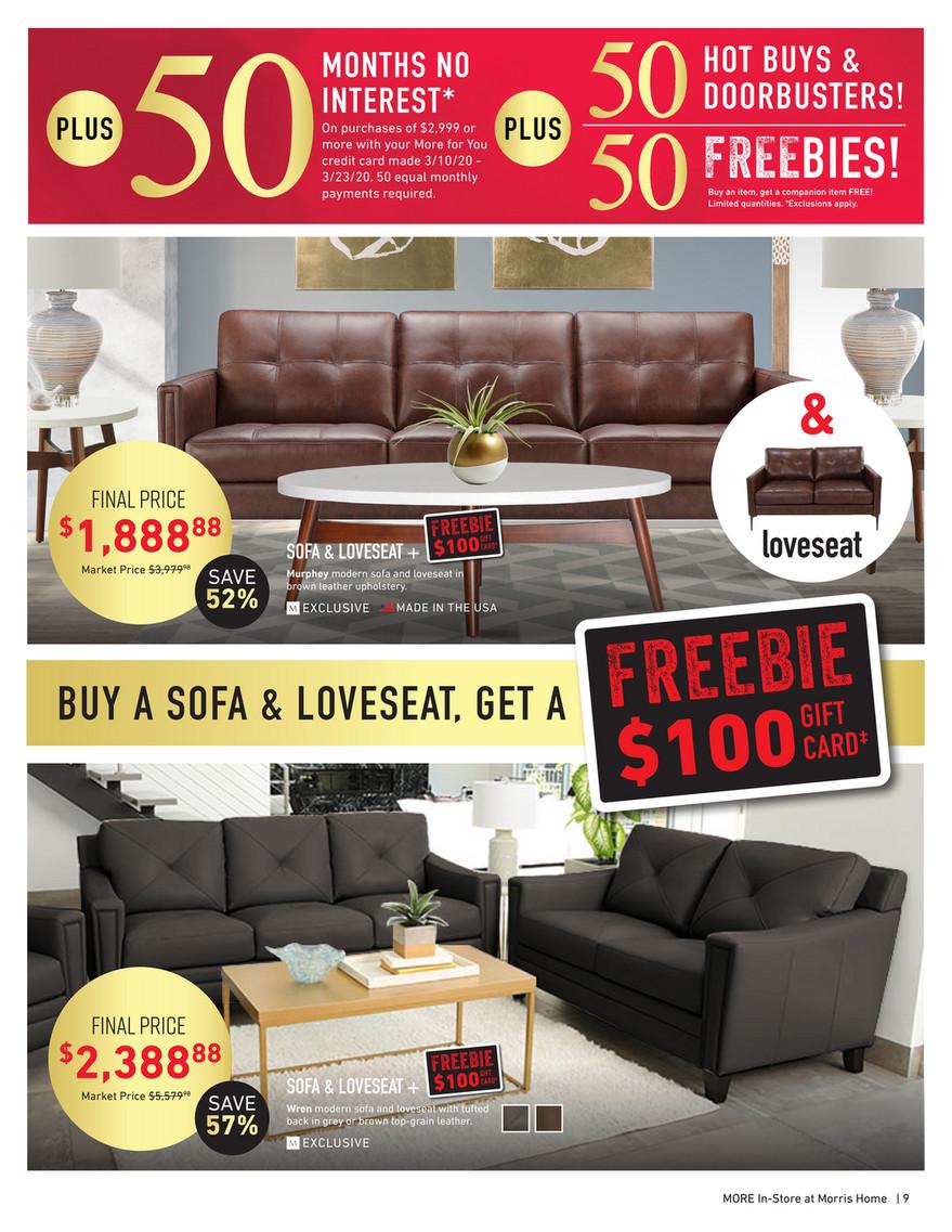 morris furniture company - morris digital catalog - page 8-9