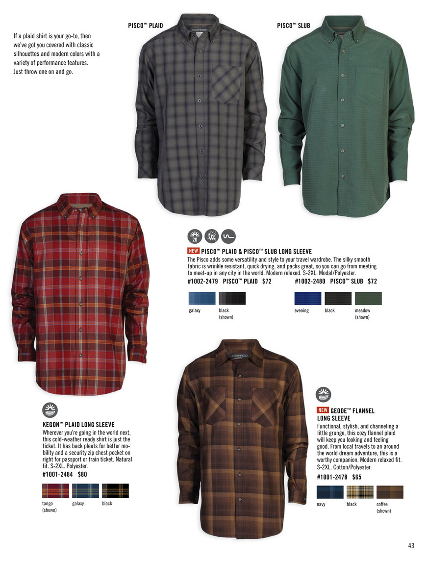 ExOfficio Fall 2015 Catalog Page 42 43 Created with