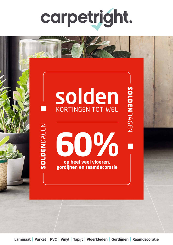 Carpetright  folder van 02/01/2018 tot 31/01/2018 - Winter Solden 2018