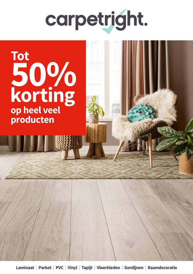Carpetright  folder van 19/02/2018 tot 03/03/2018 - Tot 50% korting by Carpetright