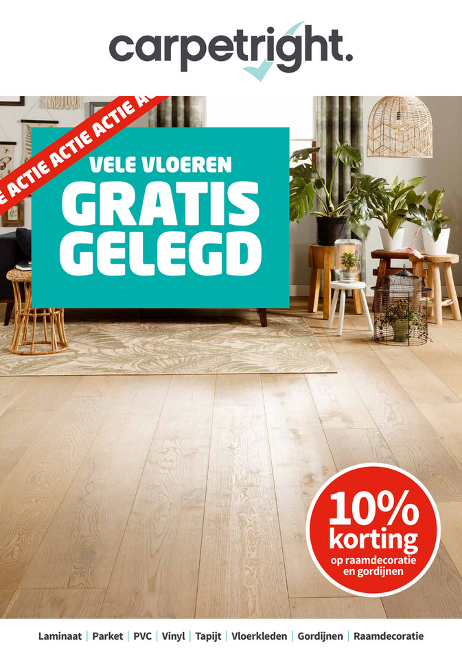 Carpetright  folder van 06/08/2018 tot 25/08/2018 - Carpetright W31 NL.pdf