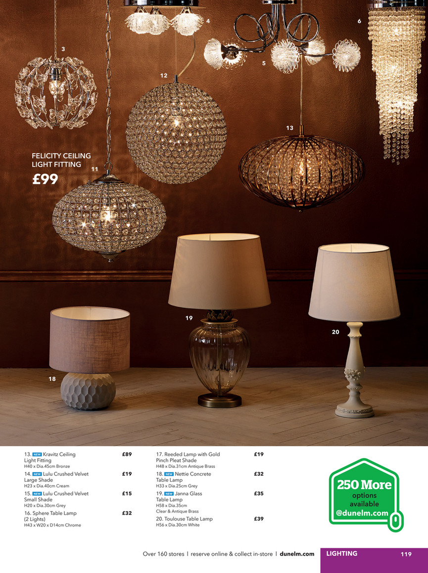 Picture of: Dunelm Spring Summer 2017 Catalogue Page 118 119