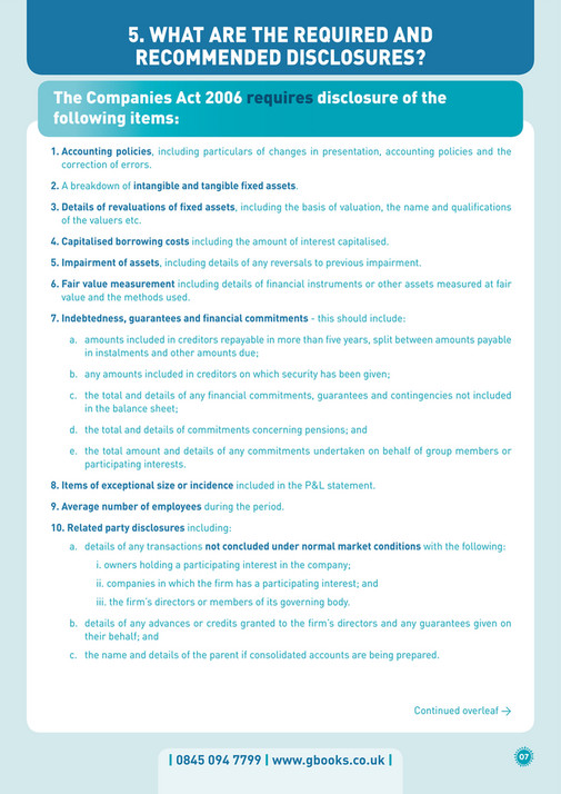 Gbooks Ltd - Preparing small company accounts using FRS 102