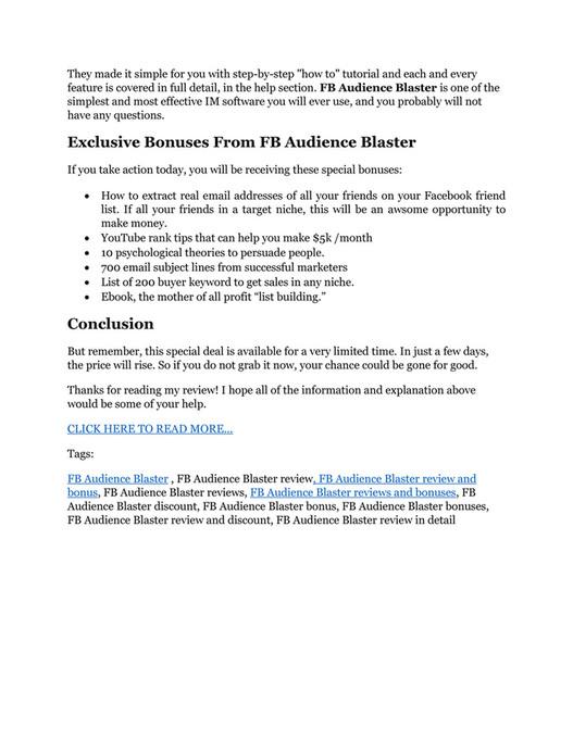 GGT - FB Audience Blaster Review - $32,400 bonus & discount