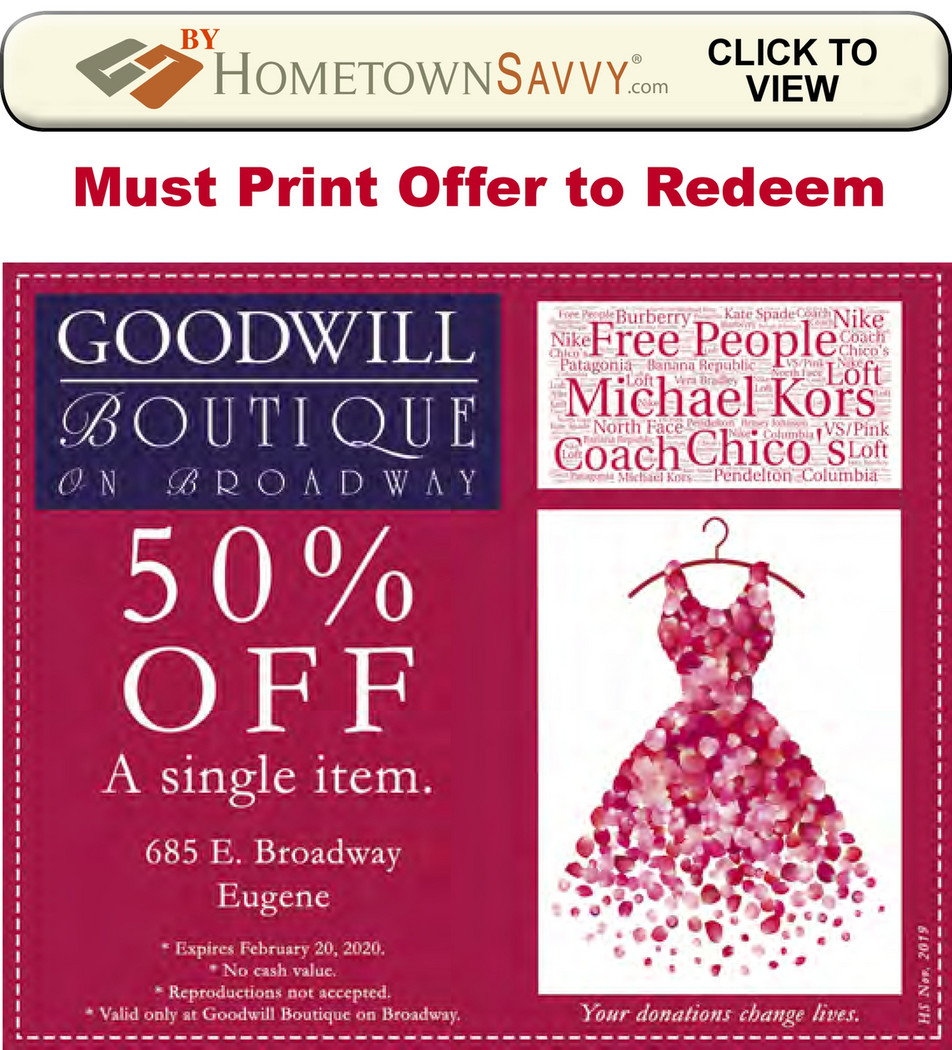 Cover Store Coupon >> Goodwill Boutique Resale Store Coupon By Hometown Savvy