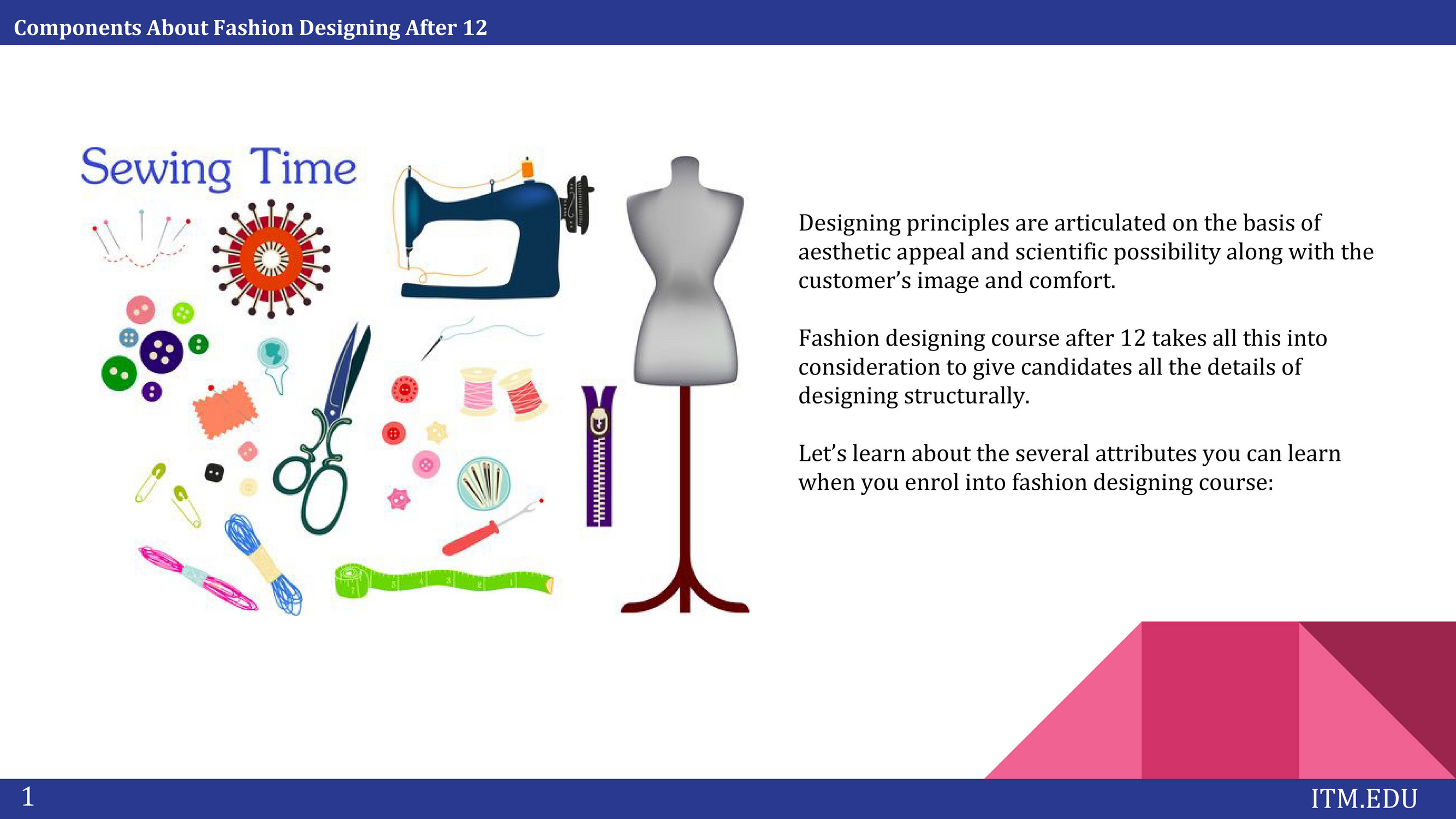Itm Institute Components About Fashion Designing After 12 Page 4 Created With Publitas Com