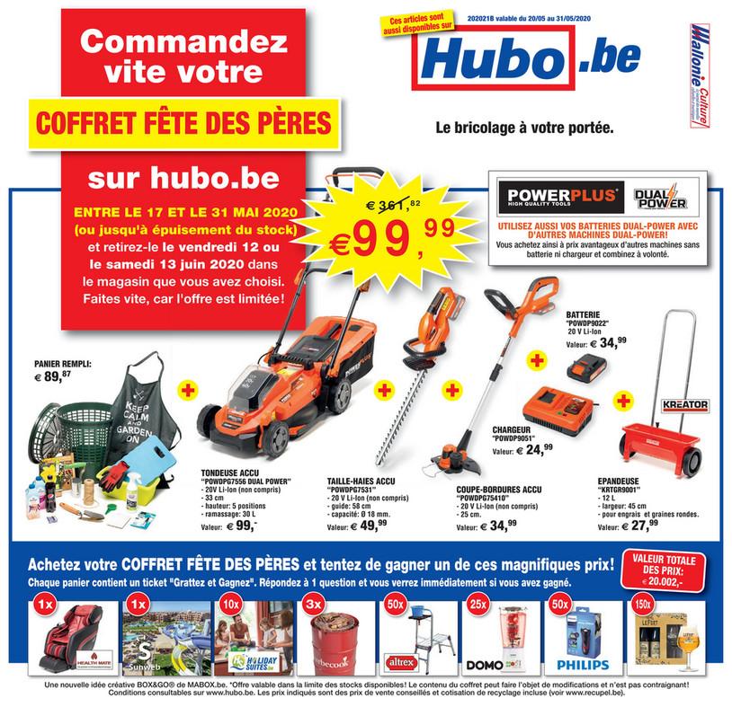 Folder Hubo du 20/05/2020 au 31/05/2020 - Promotions de la semaine 21