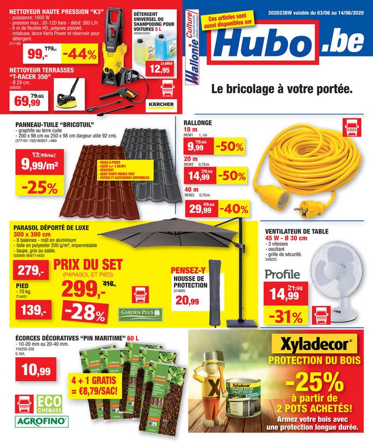 Folder Hubo du 03/06/2020 au 14/06/2020 - Promotions de la semaine 23