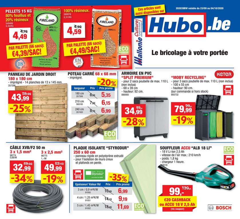Folder Hubo du 23/09/2020 au 04/10/2020 - promotion de la semaine 39
