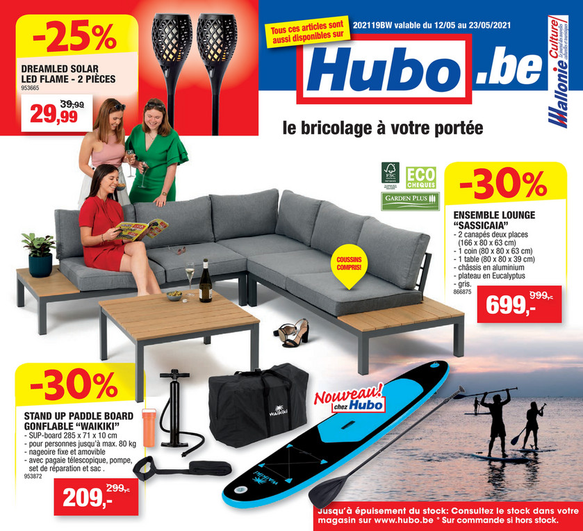 Folder Hubo du 12/05/2021 au 23/05/2021 - Promotions de la semaine 19
