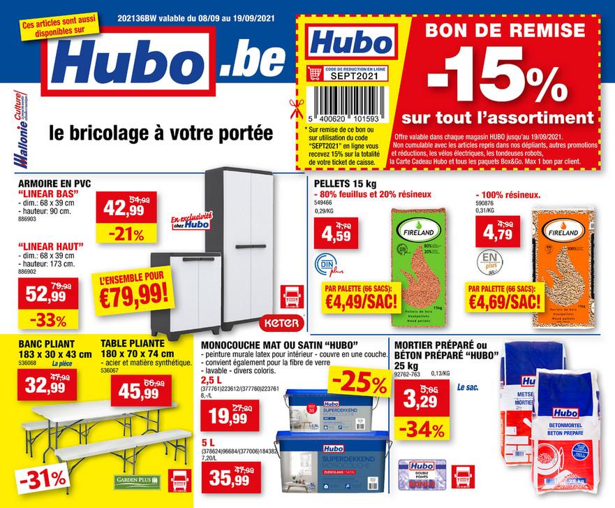 Folder Hubo du 08/09/2021 au 19/09/2021 - Promotions de la semaine 36