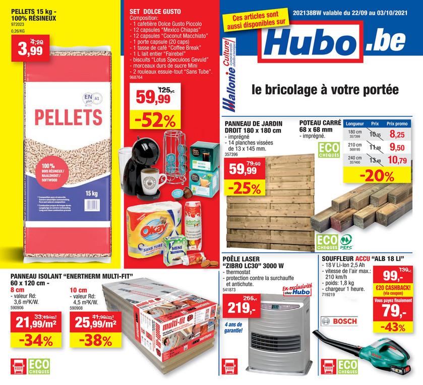 Folder Hubo du 22/09/2021 au 03/10/2021 - Promotions de la semaine 38_FR