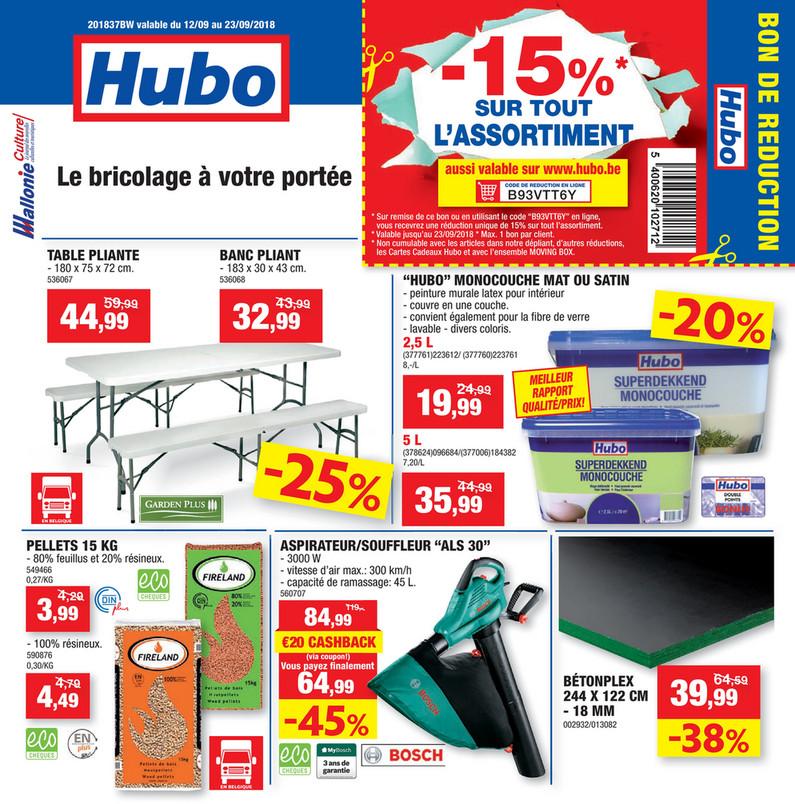 Folder Hubo du 12/09/2018 au 23/09/2018 - Promotions de la semaine 37