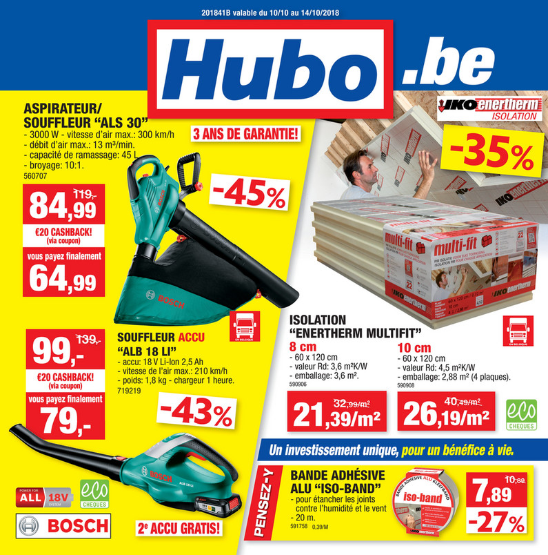 Folder Hubo du 10/10/2018 au 14/10/2018 - Promotions de la semaine 41