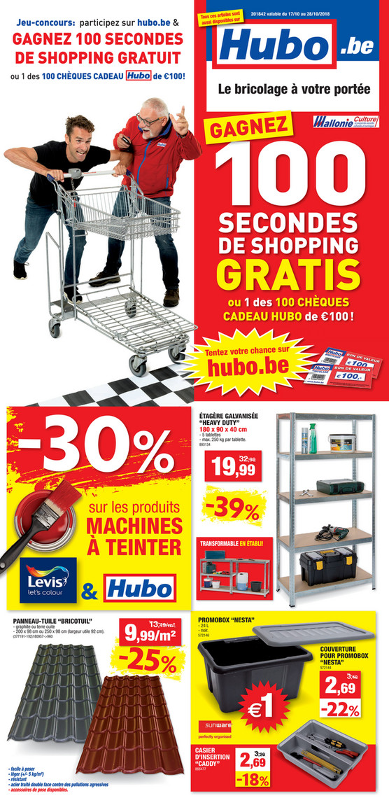 Folder Hubo du 17/10/2018 au 28/10/2018 - Promotions de la semaine 42
