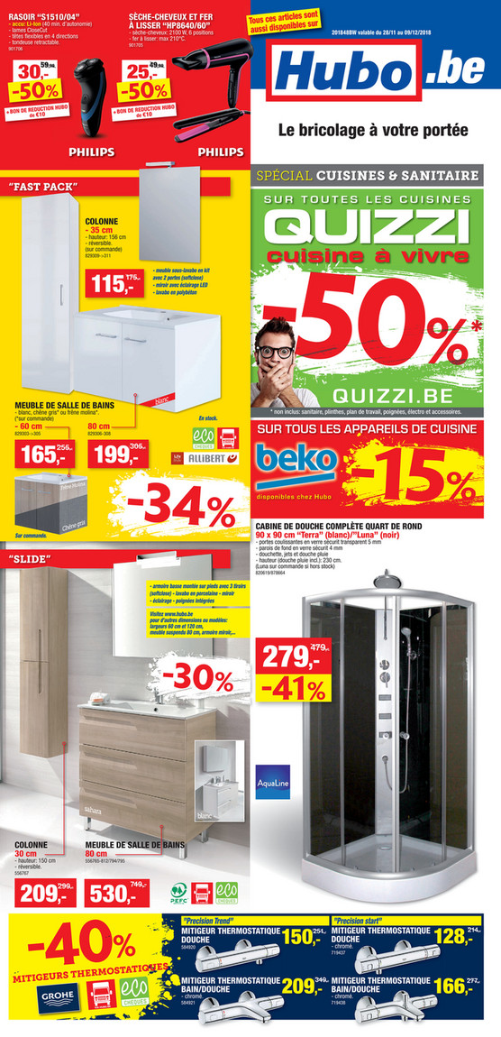 Folder Hubo du 28/11/2018 au 09/12/2018 - Promotions de la semaine 48