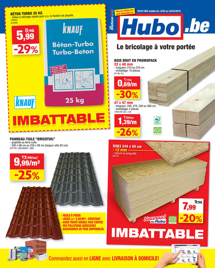 Folder Hubo du 13/03/2019 au 24/03/2019 - Promotions de la semaine 11