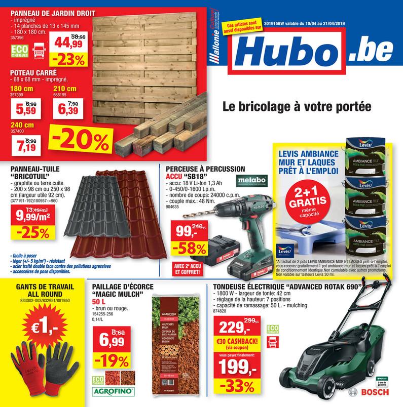 Folder Hubo du 10/04/2019 au 21/04/2019 - Promotions de la semaine 15