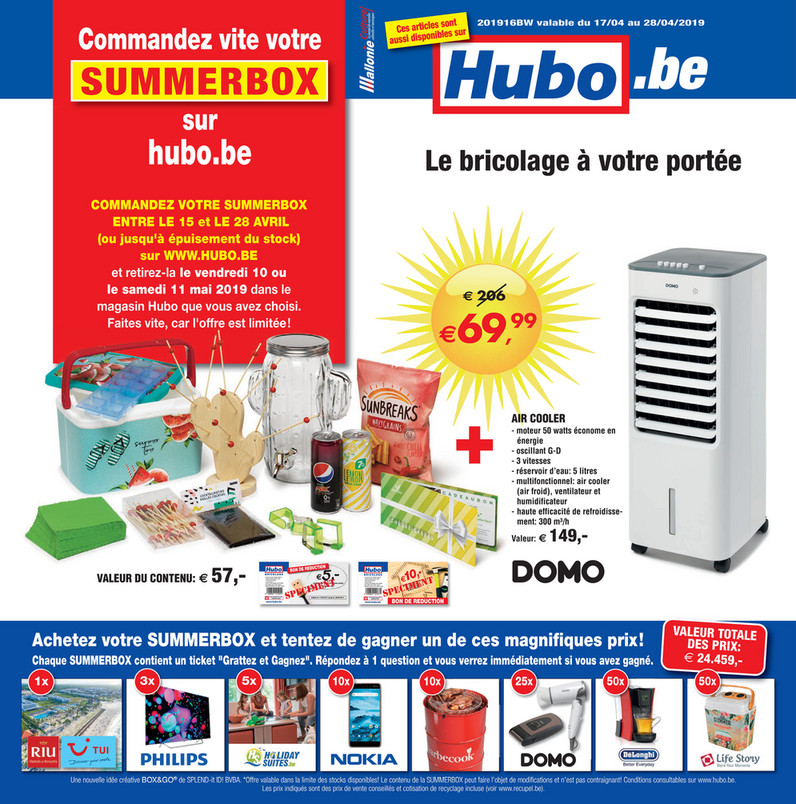 Folder Hubo du 17/04/2019 au 28/04/2019 - Promotions de la semaine 16