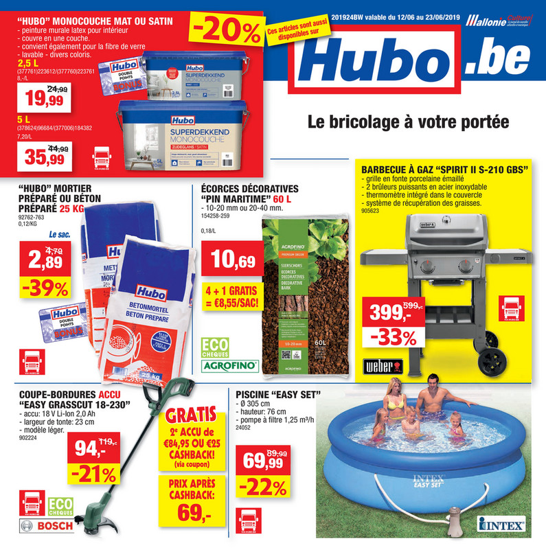 Folder Hubo du 12/06/2019 au 23/06/2019 - promotions de la semaine 24
