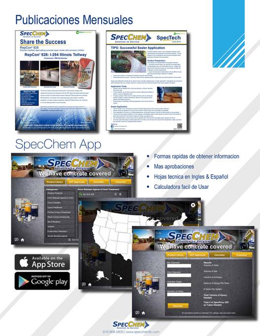 RB Construction Products - SpecChem Profile Brochure SP