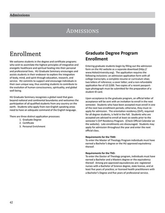 Holos University Catalog - Page 42-43